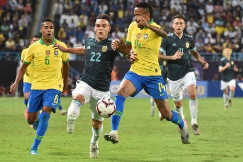 Argentina vence 1-0 a Brasil en el partido amistoso jugado en Arabia Saudita
