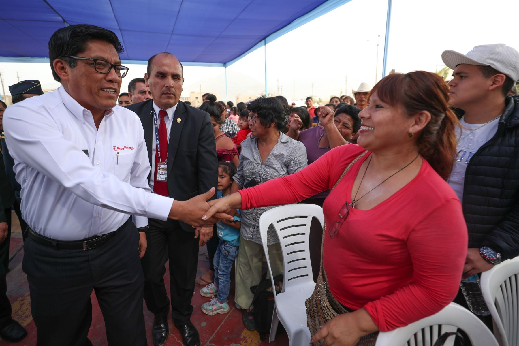 Jefe del gabinete, Vicente Zeballos inaugura Plataforma de atención MAC en Comas.  Foto: ANDINA/Difusión
