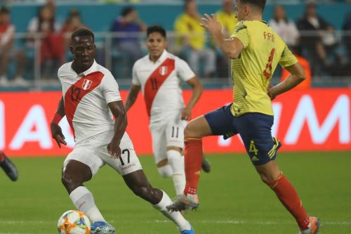 Perú pierde 1 a 0 ante Colombia en partido amistoso