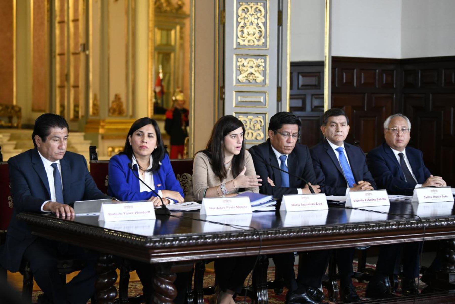 La ministra de Economía y Finanzas, María Antonieta Alva, durante la presentación del Presupuesto del Sector Público para el Año Fiscal 2020. Foto: ANDINA/ Difusión