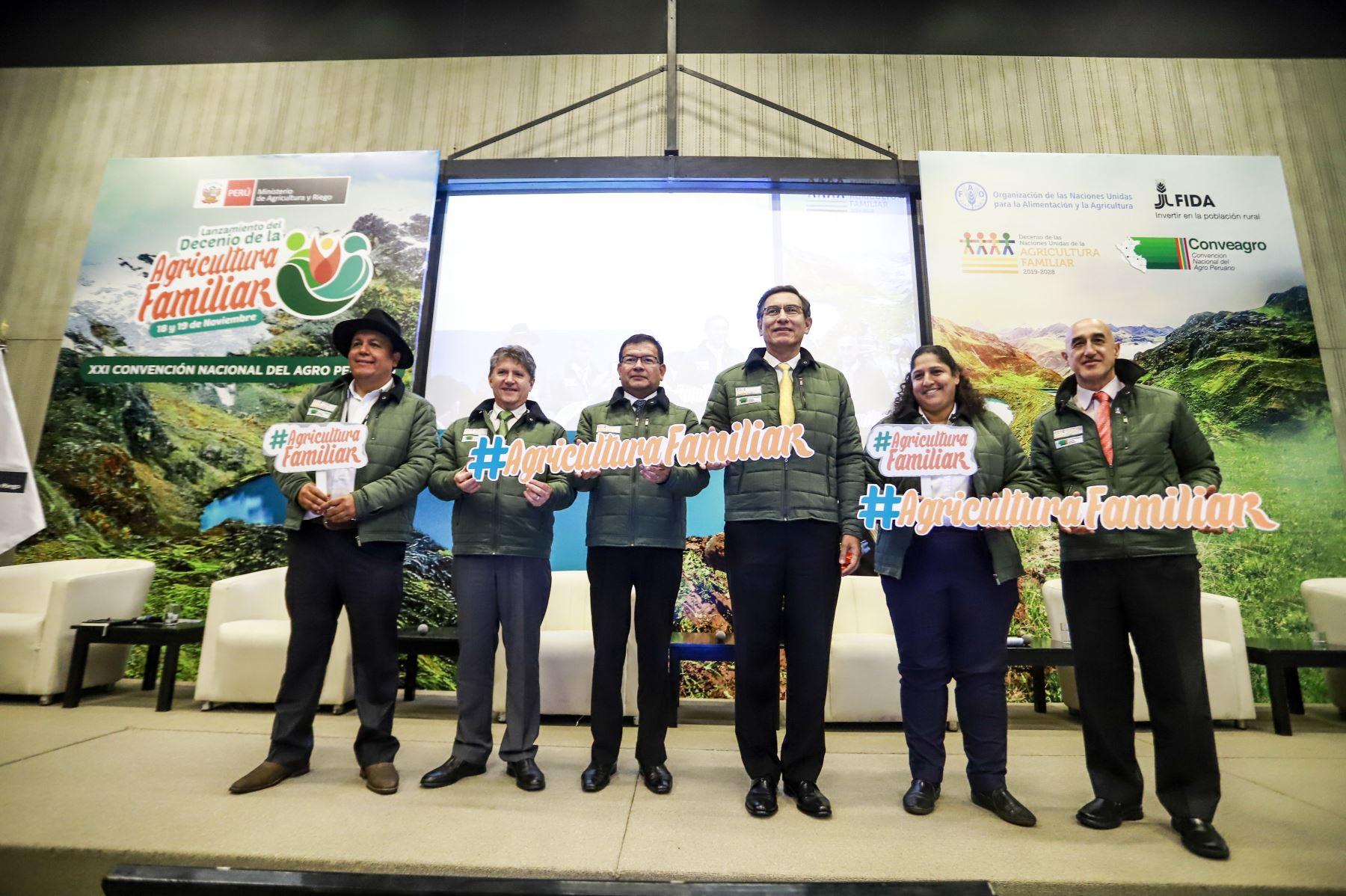 Presidente Martín Vizcarra participa en la ceremonia de lanzamiento nacional del Decenio de la Agricultura Familiar. Foto: ANDINA/ Prensa Presidencia