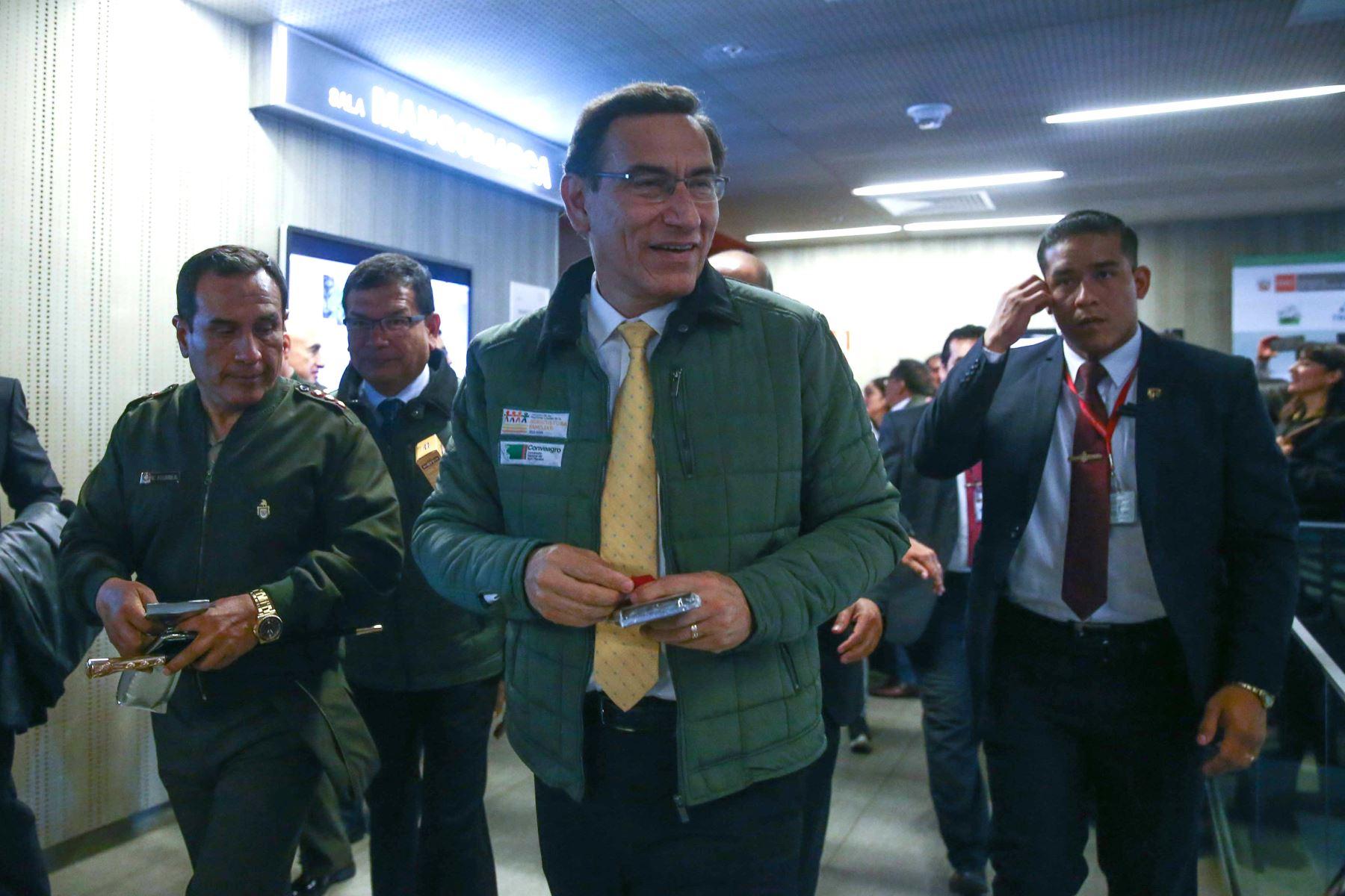 Presidente Martín Vizcarra participa en la ceremonia de lanzamiento nacional del Decenio de la Agricultura Familiar.Foto: ANDINA/Vidal Tarqui