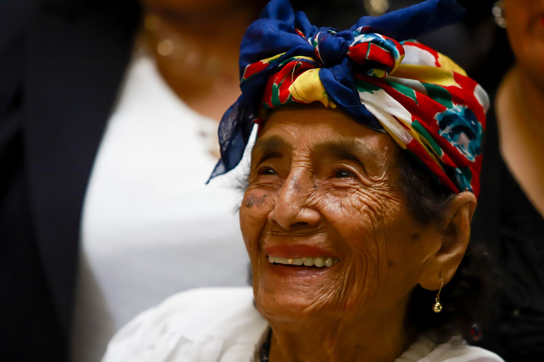 María Ángela Vela de Gonzáles tiene 99 años y goza de una muy buena salud. Foto: ANDINA/Prensa Presidencia
