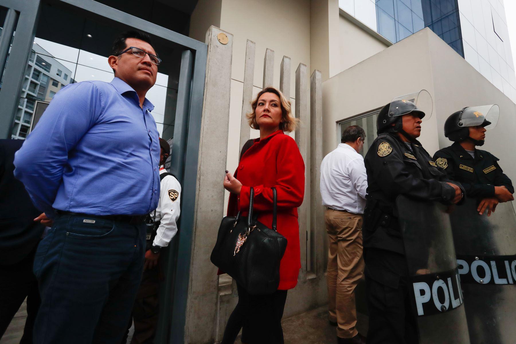 Ex congresista Milagros Takayama, anuncia que Fuerza Popular presentó solicitud de  lista de candidatos al Congreso para las próximas elecciones de enero del 2020 .  Foto: ANDINA/Renato Pajuelo