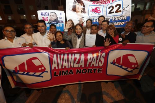 Partidos Políticos inscriben sus listas de candidatos al congreso