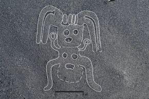 Figura de humanoide sorprende entre los 143 geoglifos descubiertos en Nasca, afirma BBC Mundo. Foto: Universidad de Yamagata