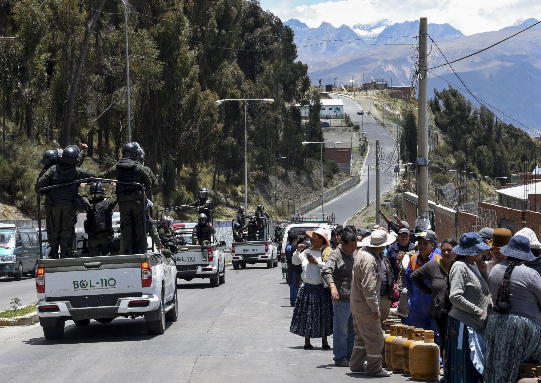 Crisis en Bolivia: preocupa la escasez de combustibles y alimentos en La Paz. Foto: AFP