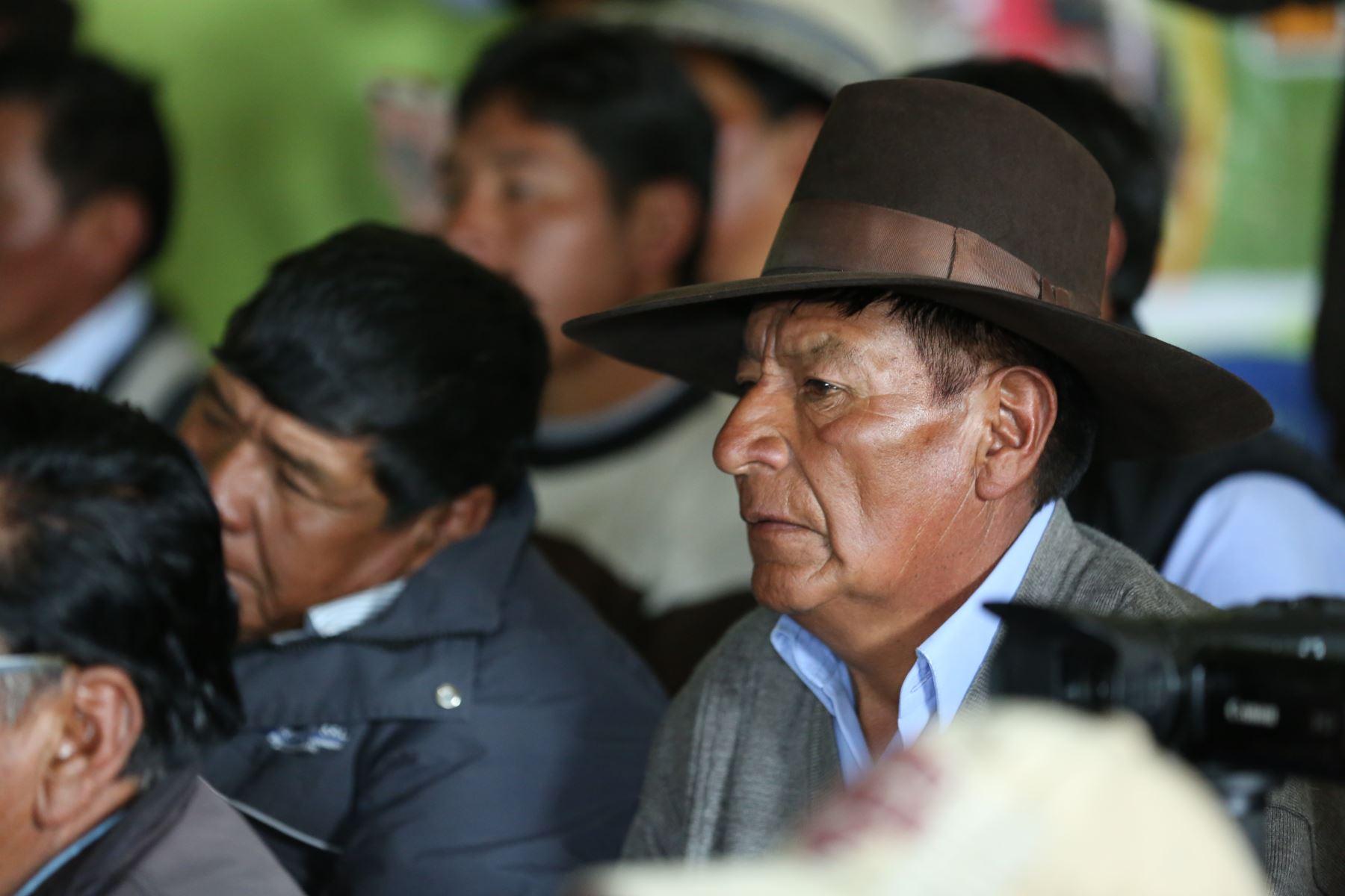Poblador del Centro Poblado Tintaya Marquiri participa en reunión con el Titular de la PCM, Vicente Zeballos  junto a dirigentes de 13 comunidades campesinas del área de influencia directa de la unidad minera Antapaccay Foto: PCM