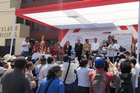 La ministra de la Producción, Rocío Barrios, participó en la celebración del Día Mundial de la Pesca en Chimbote, región Áncash.