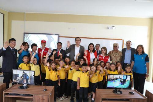 Presidente Vizcarra inaugura IE Nuestros Héroes de la Guerra del Pacífico en Tacna