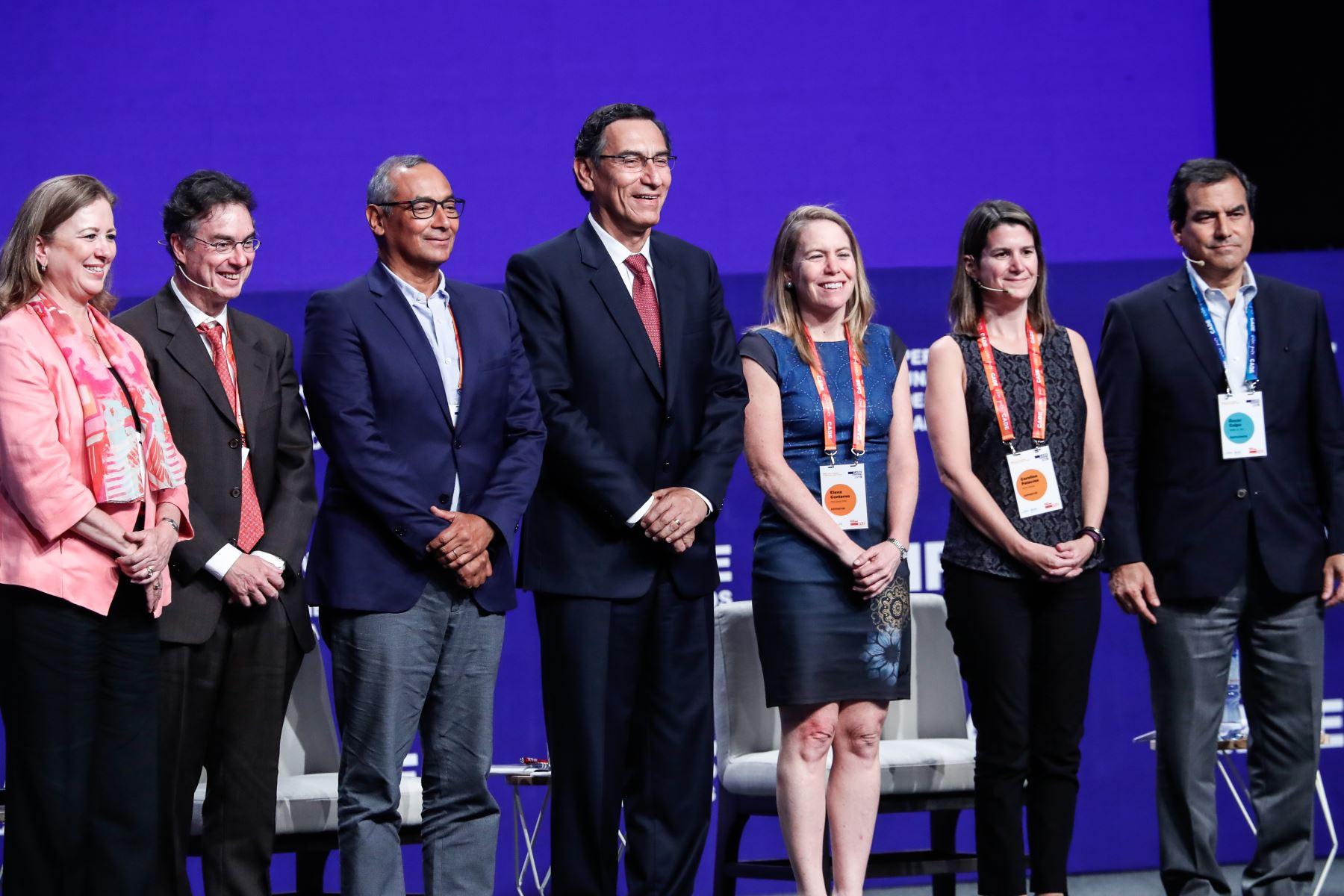 Presidente Martín Vizcarra participa en CADE 2019. Foto: ANDINA/Renato Pajuelo
