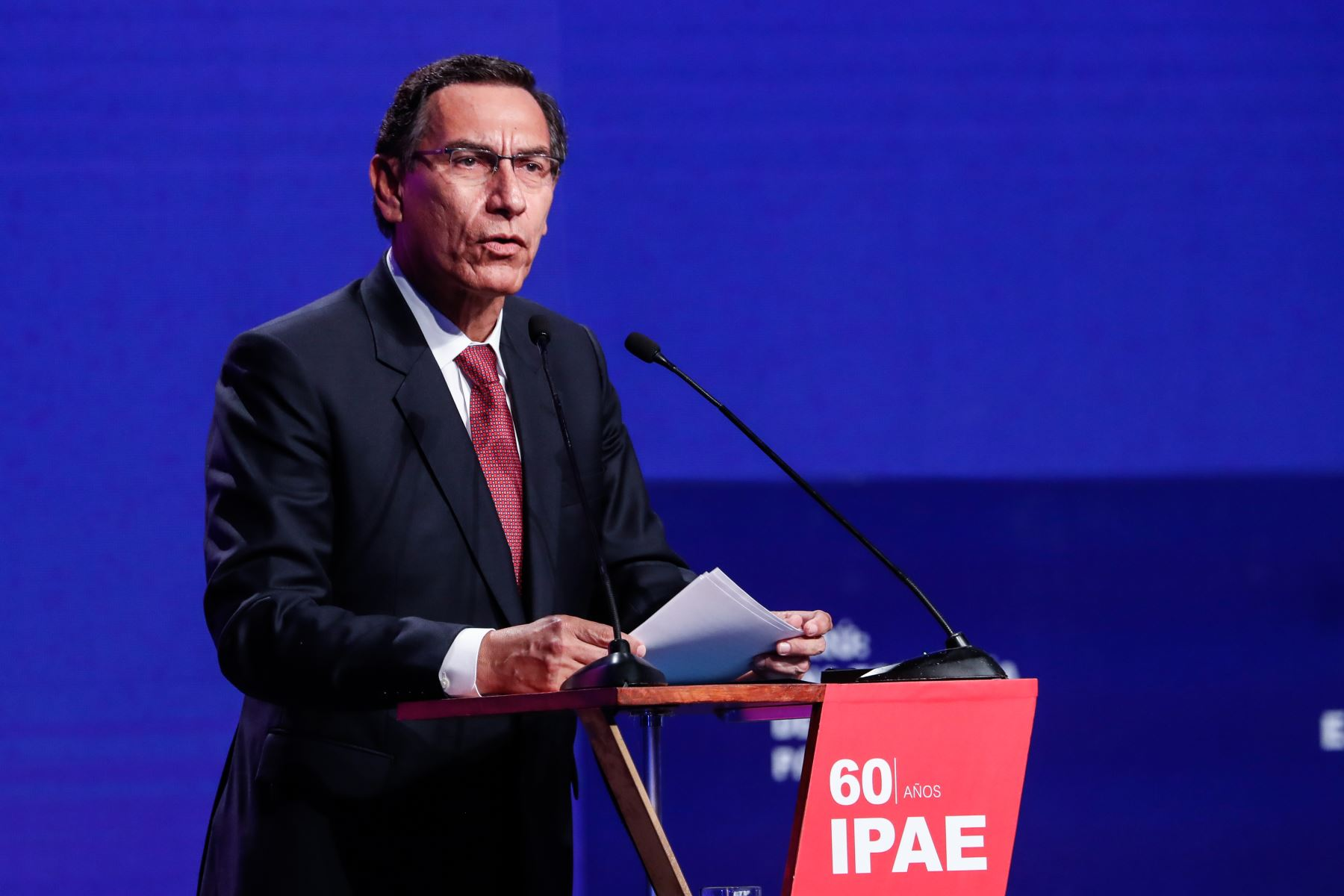 Presidente Vizcarra interviene en el CADE Ejecutivos 2019. Foto: ANDINA/Renato