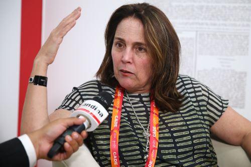 Presidenta de AFIN, Leonie Roca. ANDINA/Melina Mejía