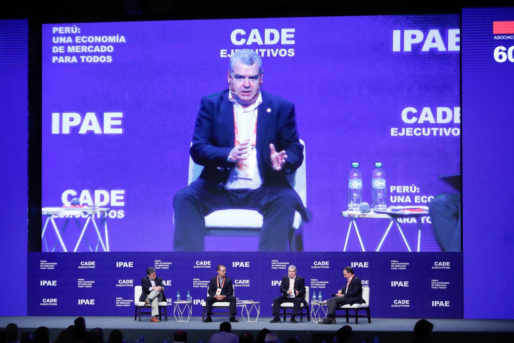 José Antonio Vázquez Taín, juez de lo Penal en A Coruña debate Narcotráfico y minería ilegal, una amenaza para el país en CADE 2019. Foto: ANDINA/Renato Pajuelo