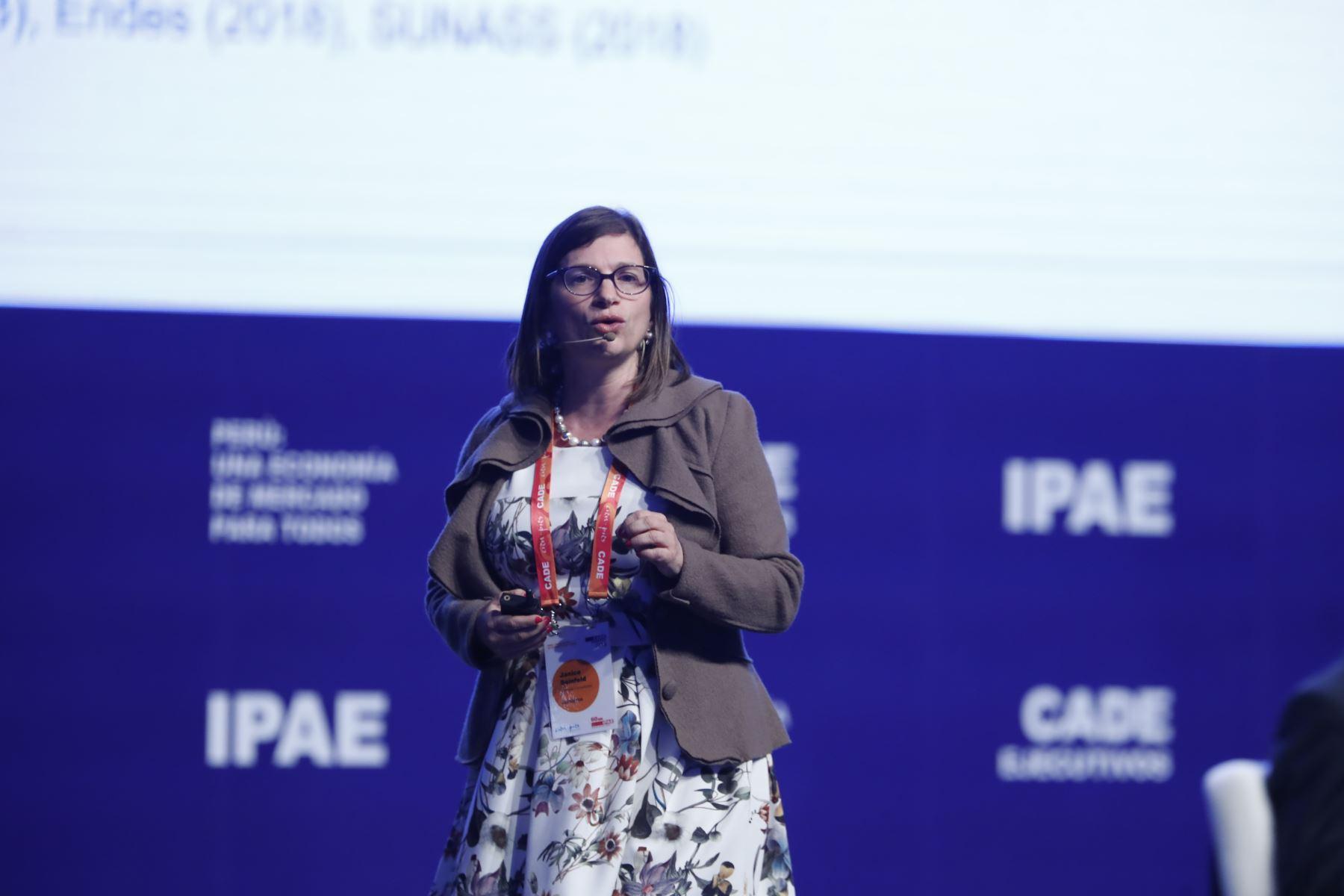 Janice Seinfeld, directora Ejecutiva de Videnza Consultores. Foto: ANDINA/Renato Pajuelo