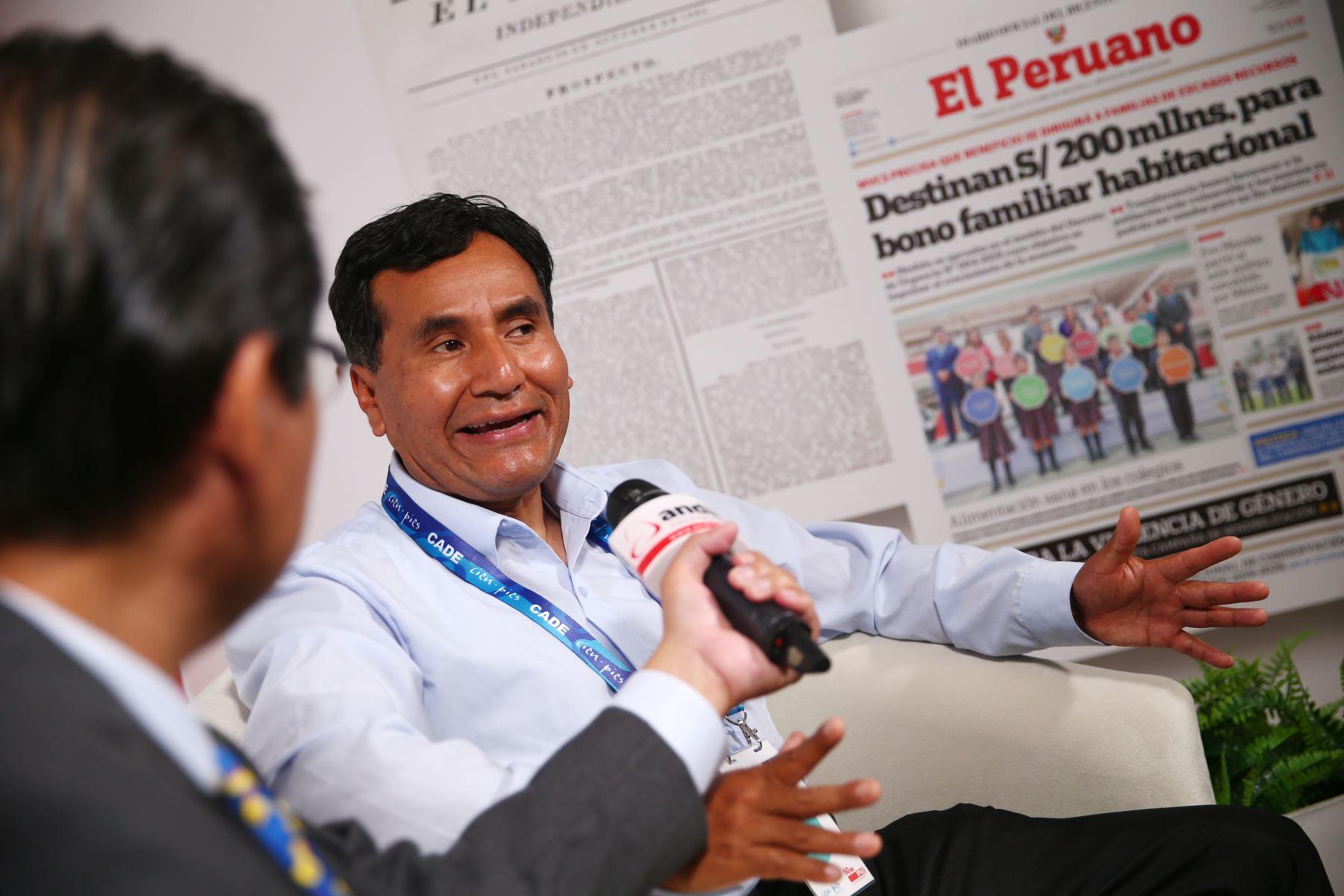 Profesor egresado de Universidad San Marcos ha sido nominado al Nóbel de la Educación. Foto: ANDINA/Melina Mejía