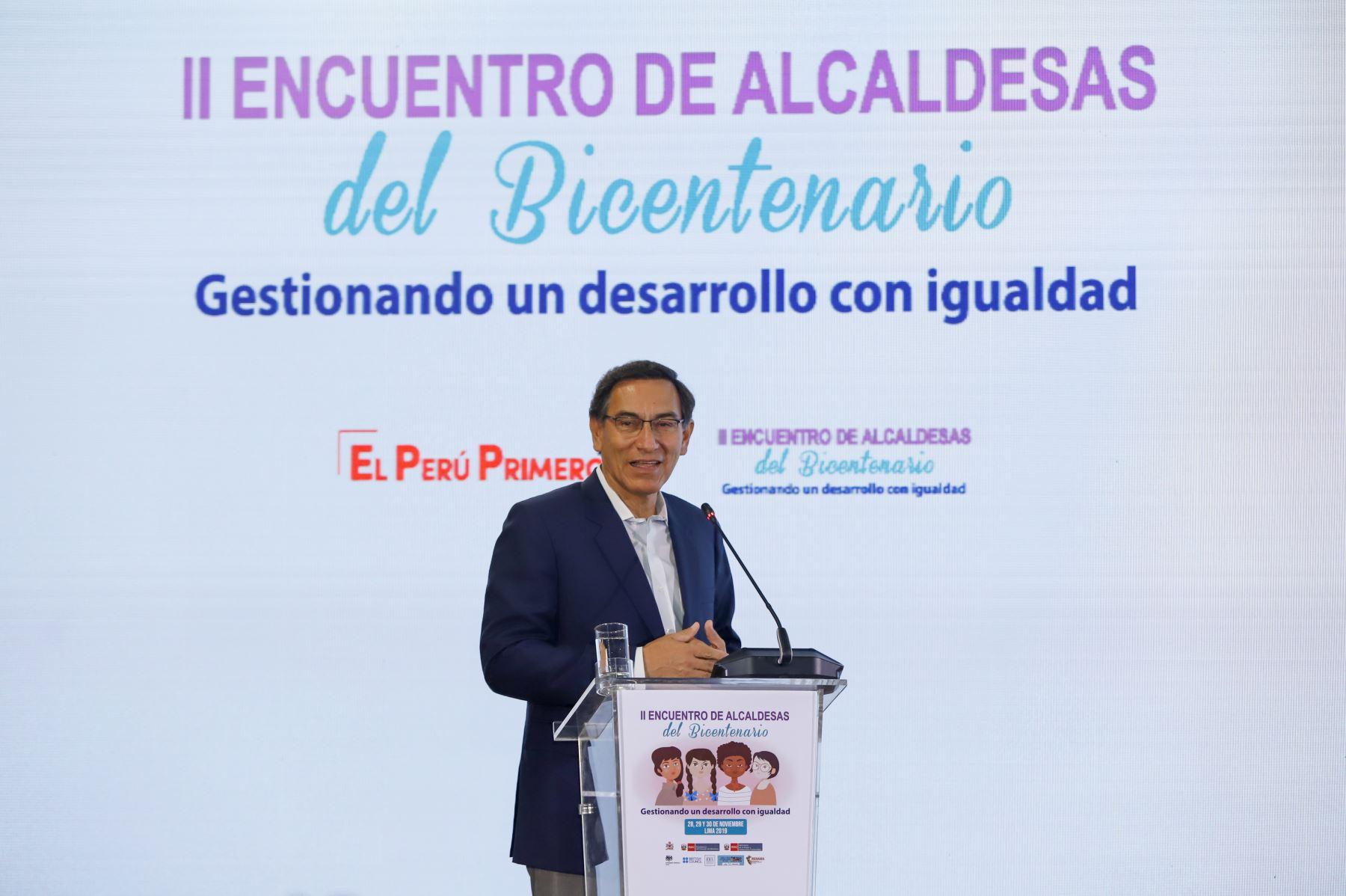 Presidente de la República participó en el II Encuentro de Alcaldesas del Bicentenario: Gestionando un Desarrollo con Igualdad de Género.Foto: ANDINA/Prensa Presidencia