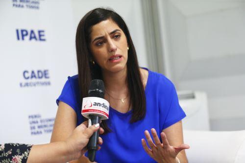 Ministra de Economía y Finanzas, María Antonieta Alva. ANDINA/Melina Mejía