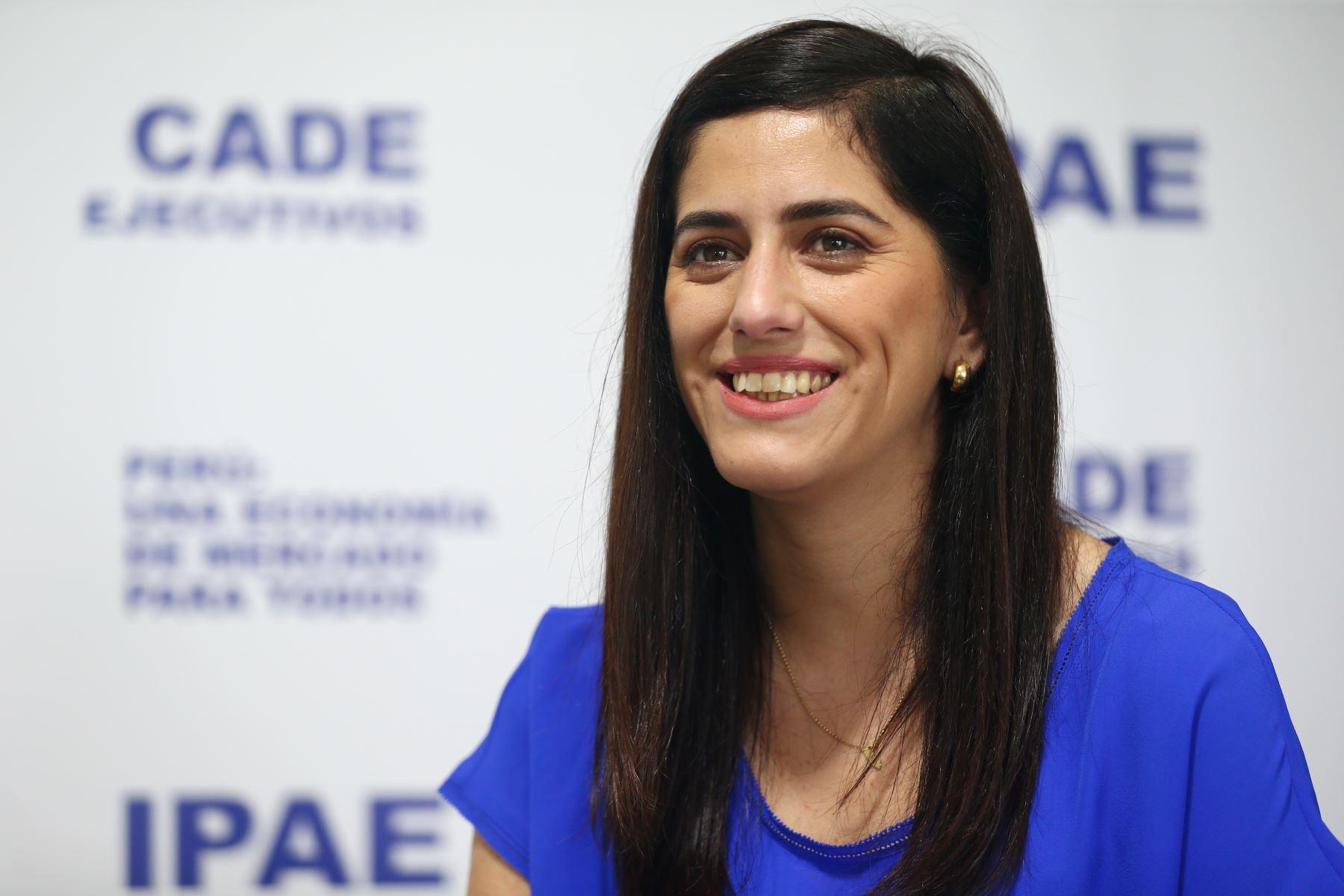 Ministra de Economía y Finanzas, María Antonieta Alva.Foto:  ANDINA/Melina Mejía.
