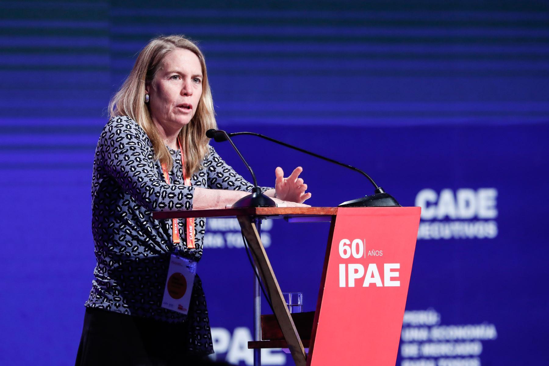 Elena Conterno, presidenta de IPAE clausura CADE Ejecutivos 2019 desarrollado en Paracas. Foto: ANDINA/Renato Pajuelo