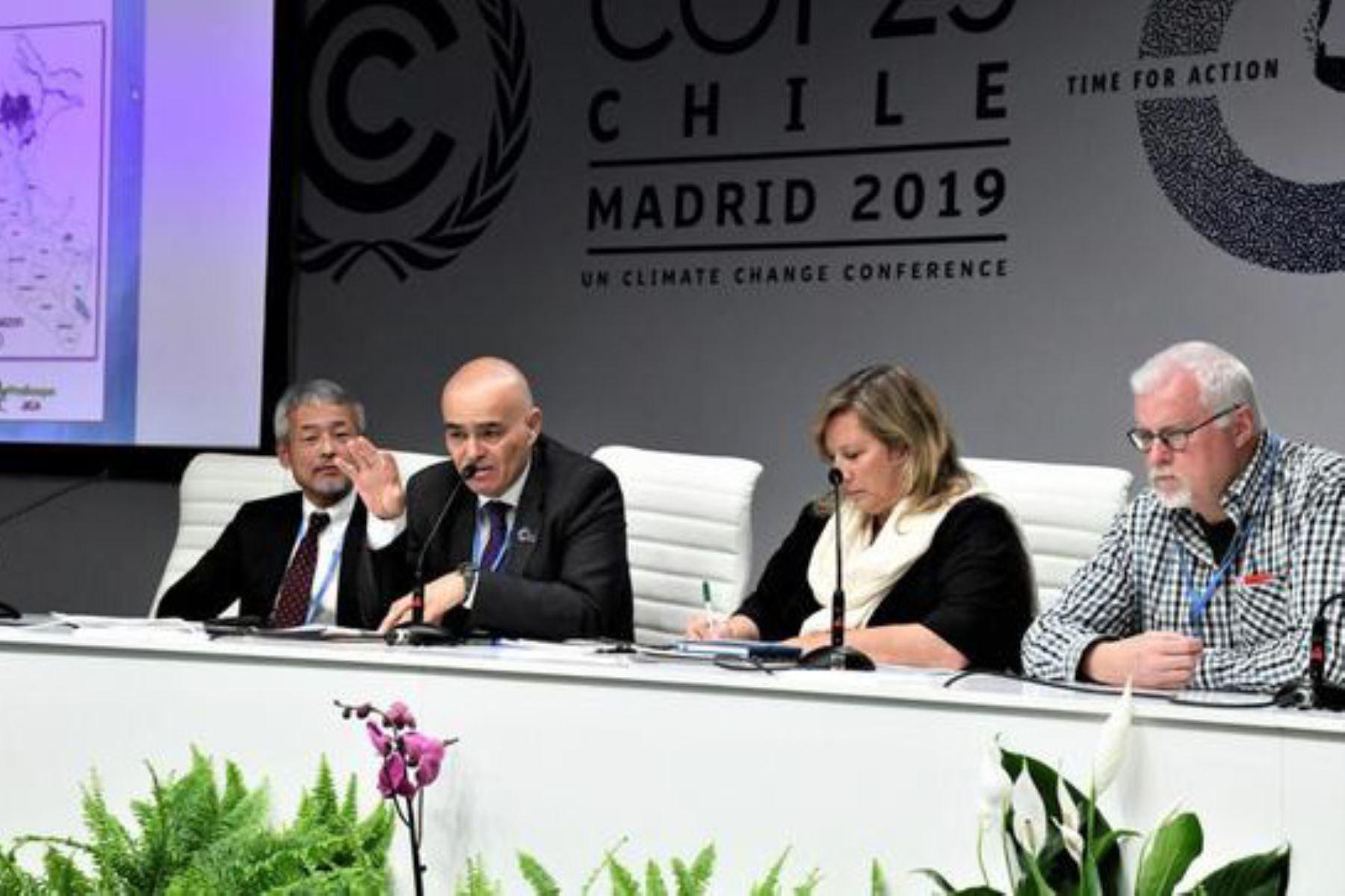 """El viceministro de Desarrollo Estratégico de los Recursos Naturales del Minam, Gabriel Quijandría, participó en el evento """"Mapeo y monitoreo de turberas para la acción climática"""" como parte de la COP25."""