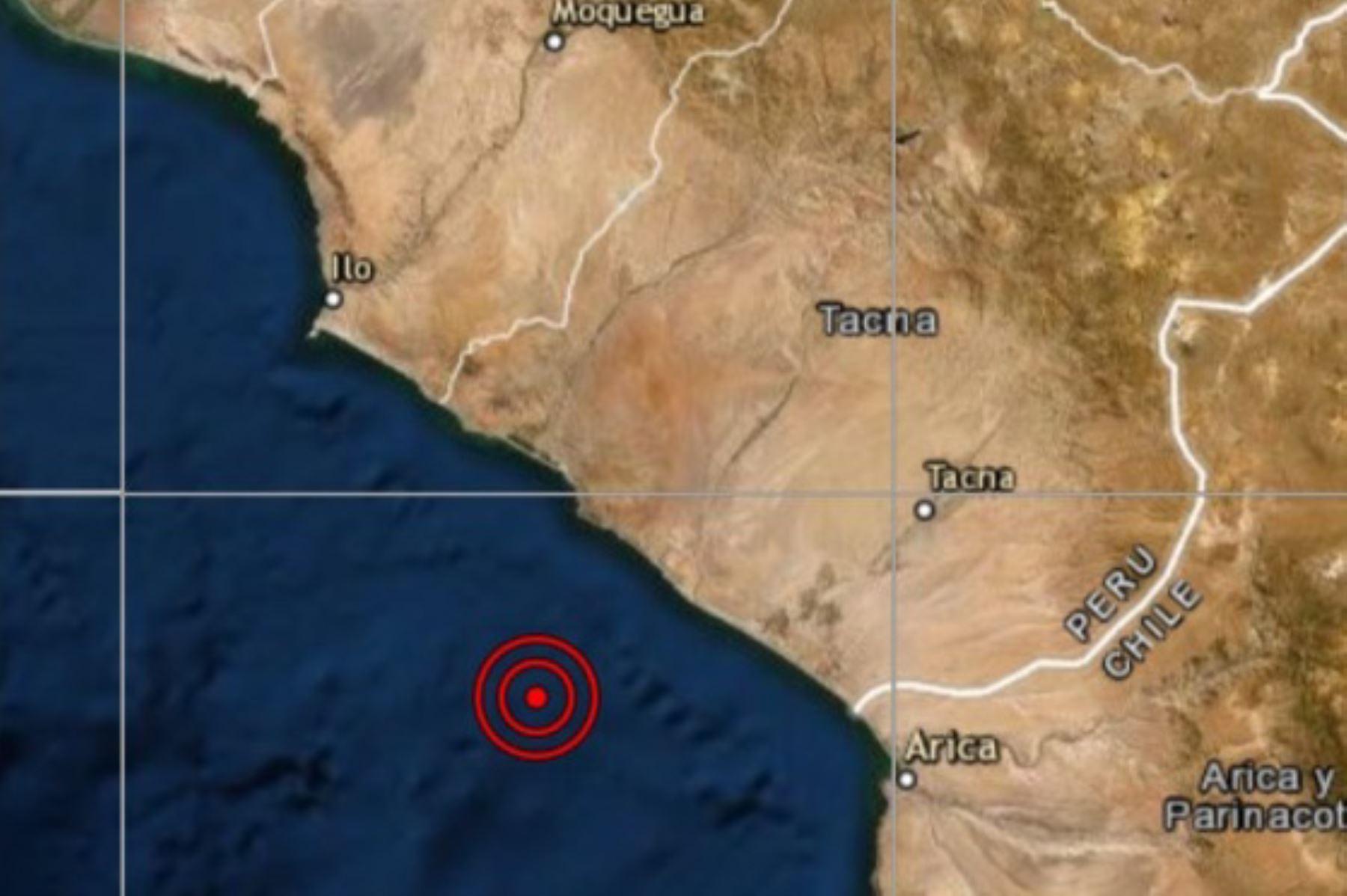 Descartan daños por sismo de magnitud 5.5 que remeció Tacna esta madrugada. Su epicentro se ubicó en el océano Pacífico.