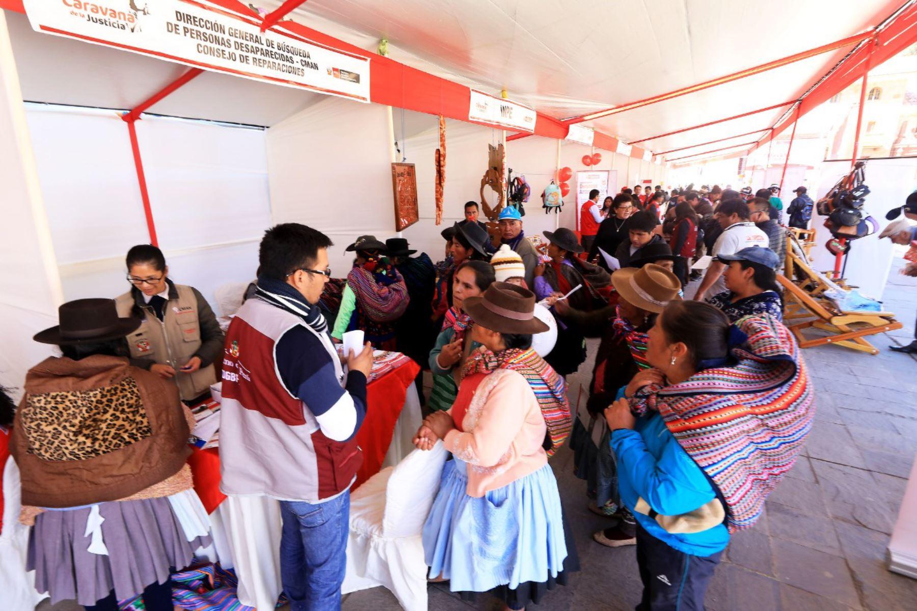 Caravana de la Justicia llegará a Huamanga la próxima semana para ofrecer servicios del Ministerio de Justicia.