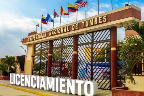 Sunedu otorga licencia institucional a la Universidad Nacional de Tumbes. ANDINA/Difusión
