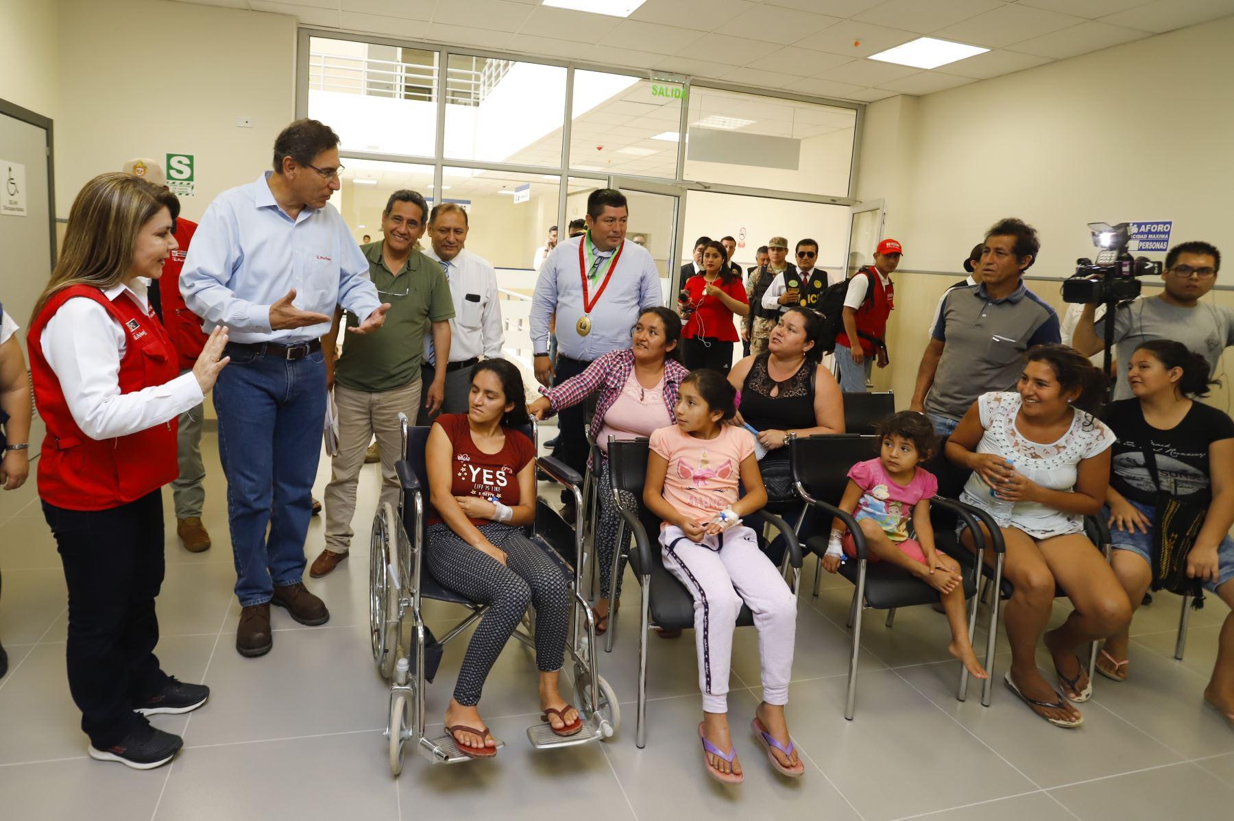 El nuevo hospital de Jaén pertenece a un proyecto iniciado en el 2014, en el que se han invertido más de S/ 156 millones para su construcción y equipamiento, y beneficia a más de 376 mil ciudadanos de manera directa, con una amplia cartera de servicios de salud a su disposición. Foto: ANDINA/ Prensa Presidencia
