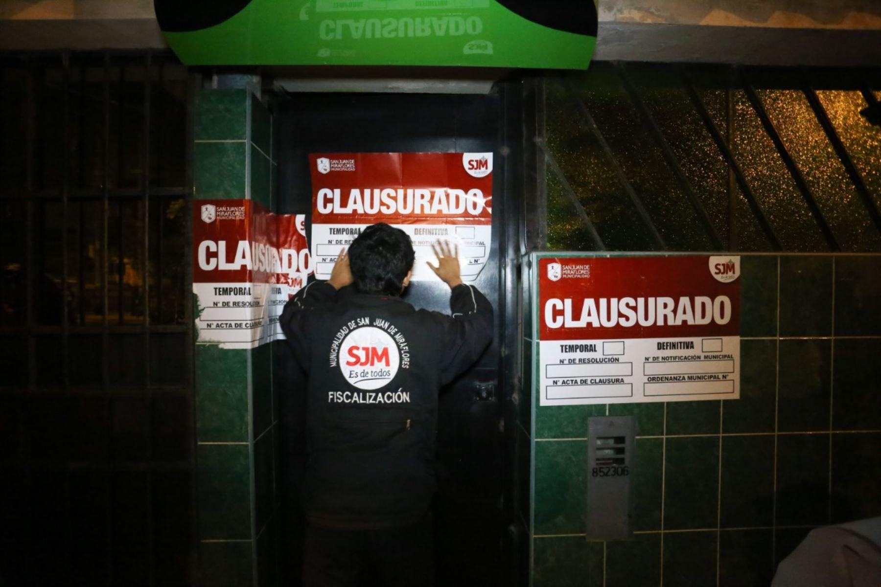 Municipalidad de San Juan de Miraflores realiza operativo. ANDINA/Difusión