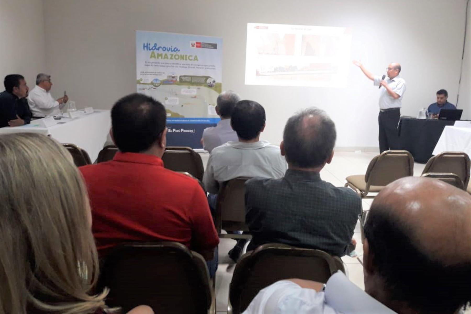 MTC informa sobre detalles del proyecto Hidrovía Amazónica en Iquitos y Pucallpa. ANDINA/Difusión
