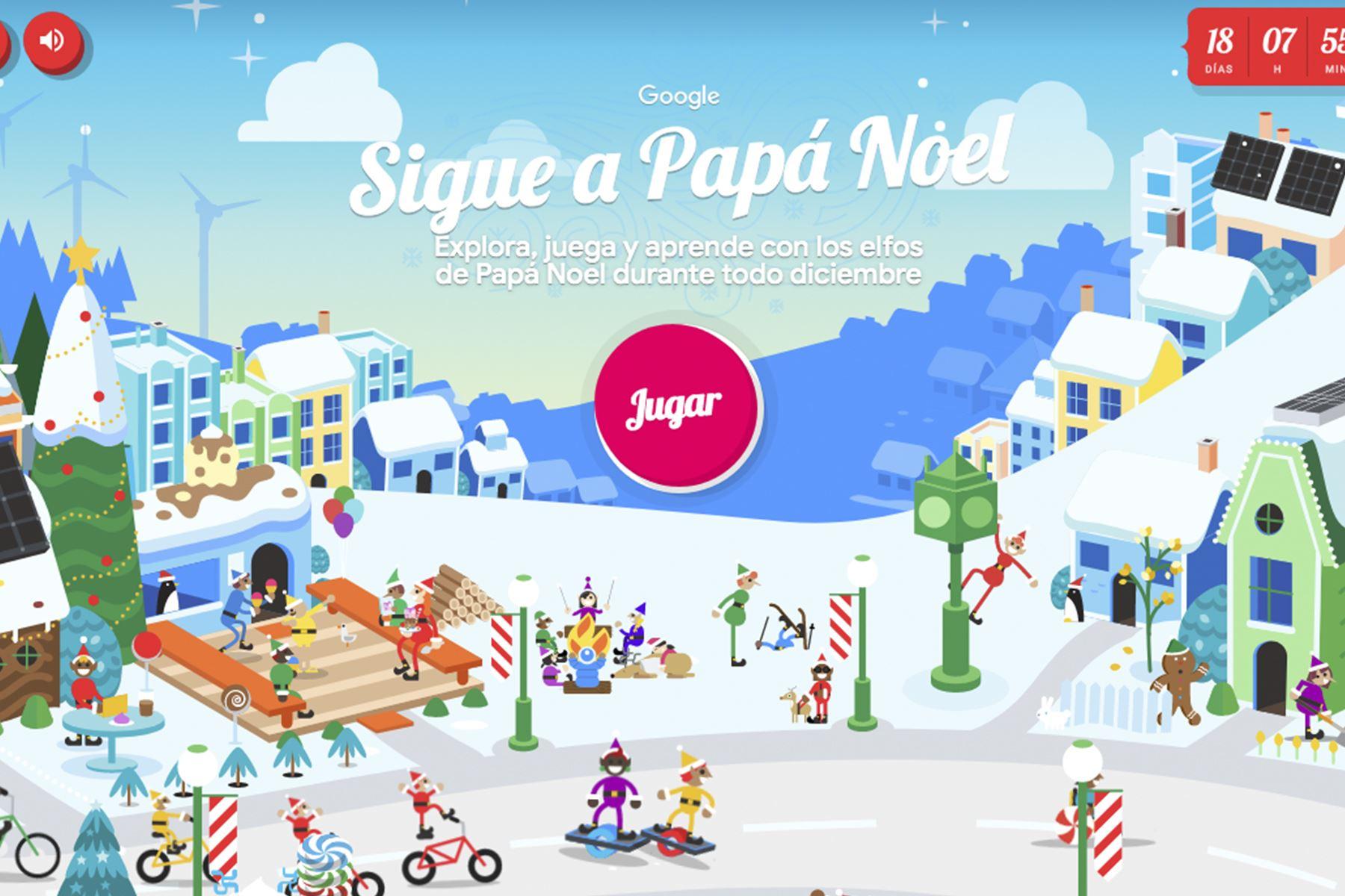 Aldea de Papá Noel, una página creada por Google totalmente dedicada a la Navidad