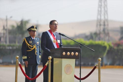 Presidente Vizcarra asiste a ceremonia por el 31º aniversario de la Policía Nacional