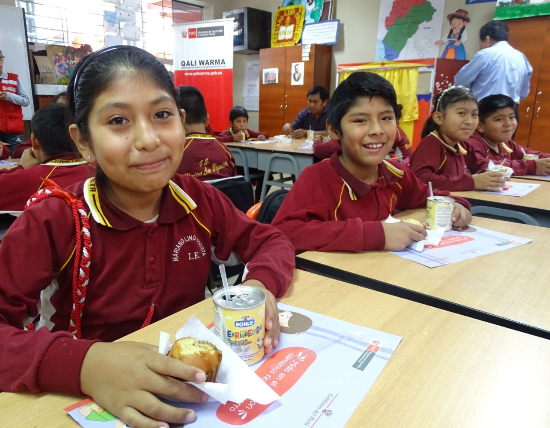Moquegua potenciará servicio alimentario escolar con maca, cañihua y api. ANDINA/Difusión