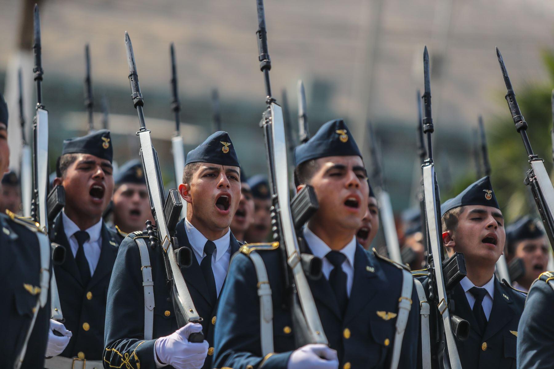 Ceremonia por el 31 Aniversario de la Policía Nacional del Perú, llevada a cabo en la Escuela de Oficiales de la Policía Nacional del Perú, en el distrito de Chorrillos. Creada el 06 de diciembre de 1988, con la Ley 24949; la Policía Nacional del Perú agrupó en una sola fuerza policial las históricas Guardia Civil, Policía de Investigaciones y Guardia Republicana. Foto: ANDINA/Prensa Presidencia
