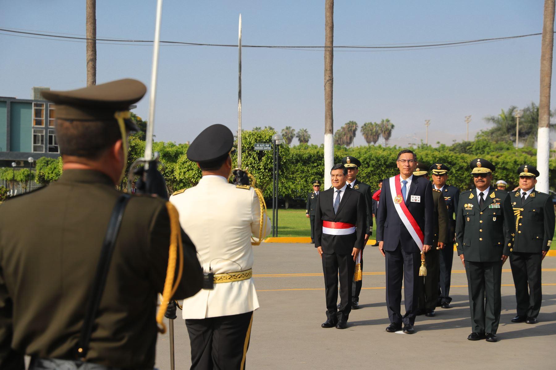 Presidente Vizcarra asiste a ceremonia por el 31º aniversario de la Policía Nacional. Foto: ANDINA/ Prensa Presidencia