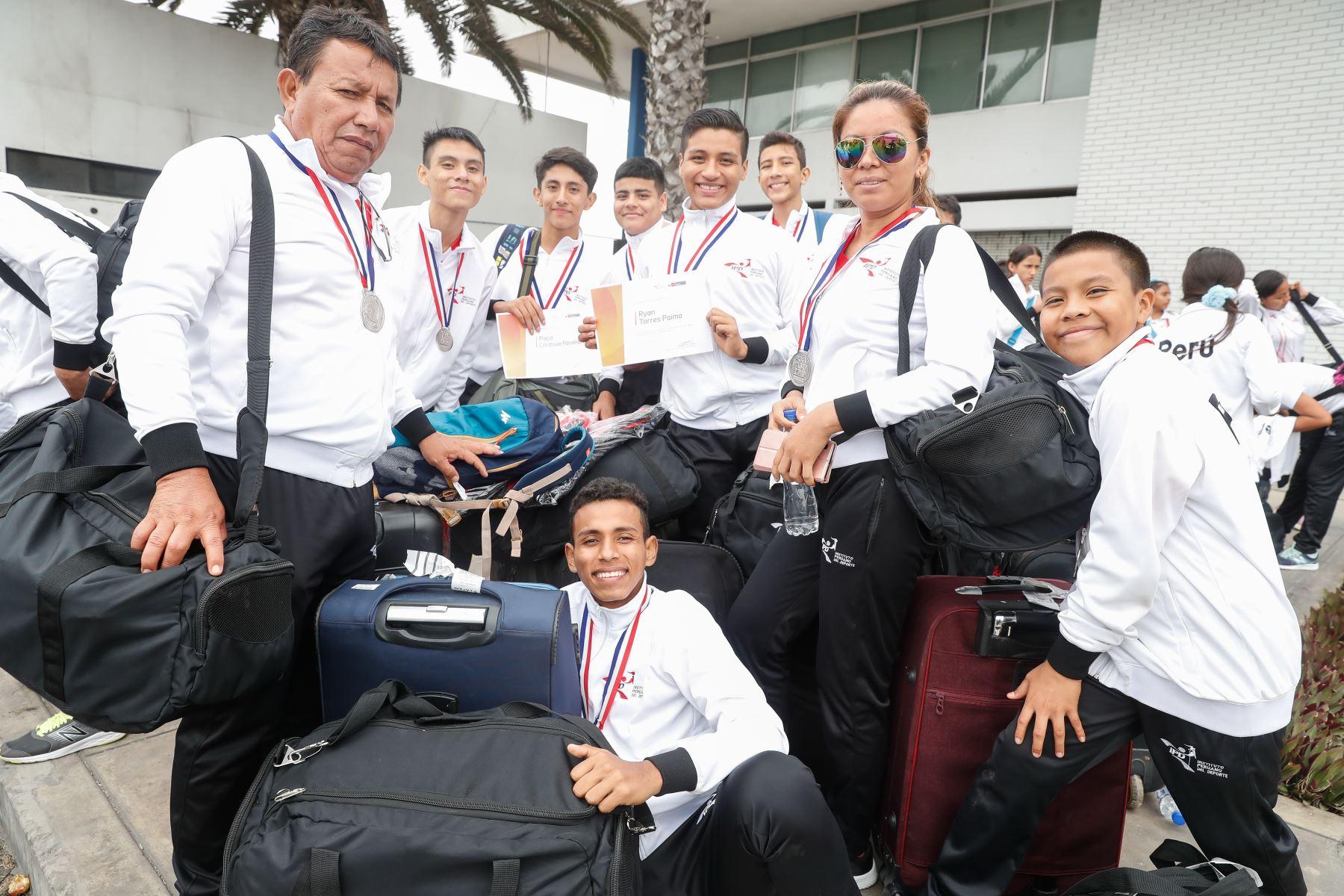 Reconocimiento a delegación de  participantes de los Juegos Sudamericanos Escolares Asunción 2019. Foto: ANDINA/Renato Pajuelo