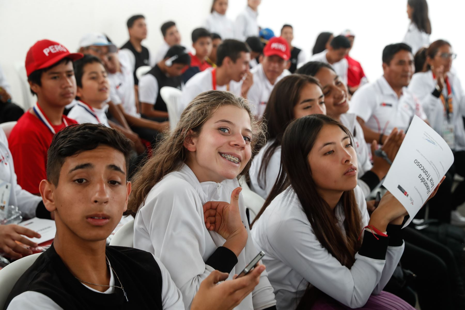 Ministerio de Educación, Brinda reconocimiento a delegación de  participantes de los Juegos Sudamericanos Escolares Asunción 2019. Foto: ANDINA/Renato Pajuelo