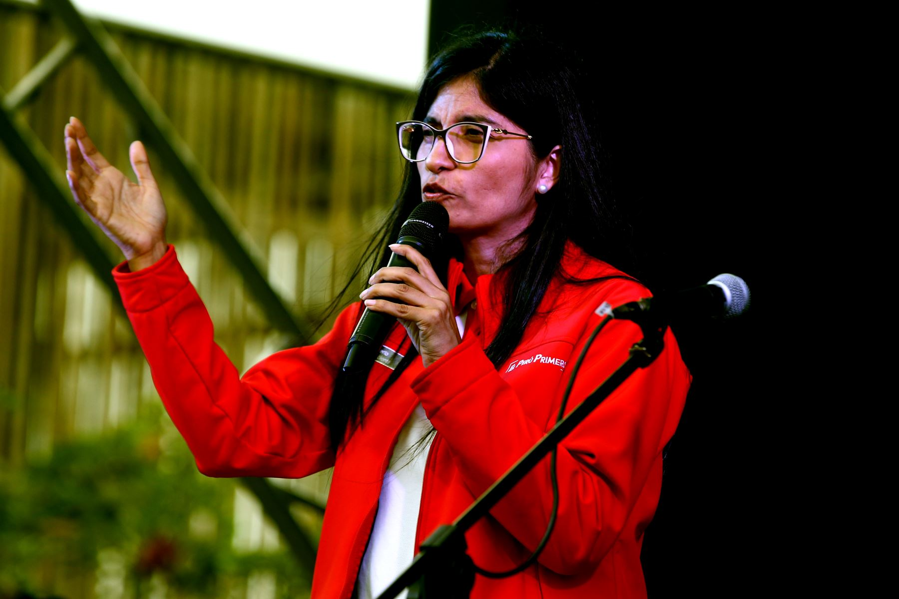 Lies Linares Santos, Viceministra de Gestión Ambiental del Ministerio del Ambiente, en el marco de las celebraciones por el Día Internacional del Voluntariado, se realiza la primera Festival de Voluntariados del Bicentenario , en el parque Ecológico Voces por el Clima, en Santiago de Surco. Foto: ANDINA/Vidal Tarqui