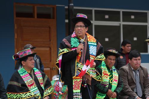 Ministro Zeballos, visito la comunidad de Huaynacancha y supervisó nuevas instalaciones de la IE 17 de Mayo, así como el camposanto y santuario ecológico en honor a los mártires del periodismo