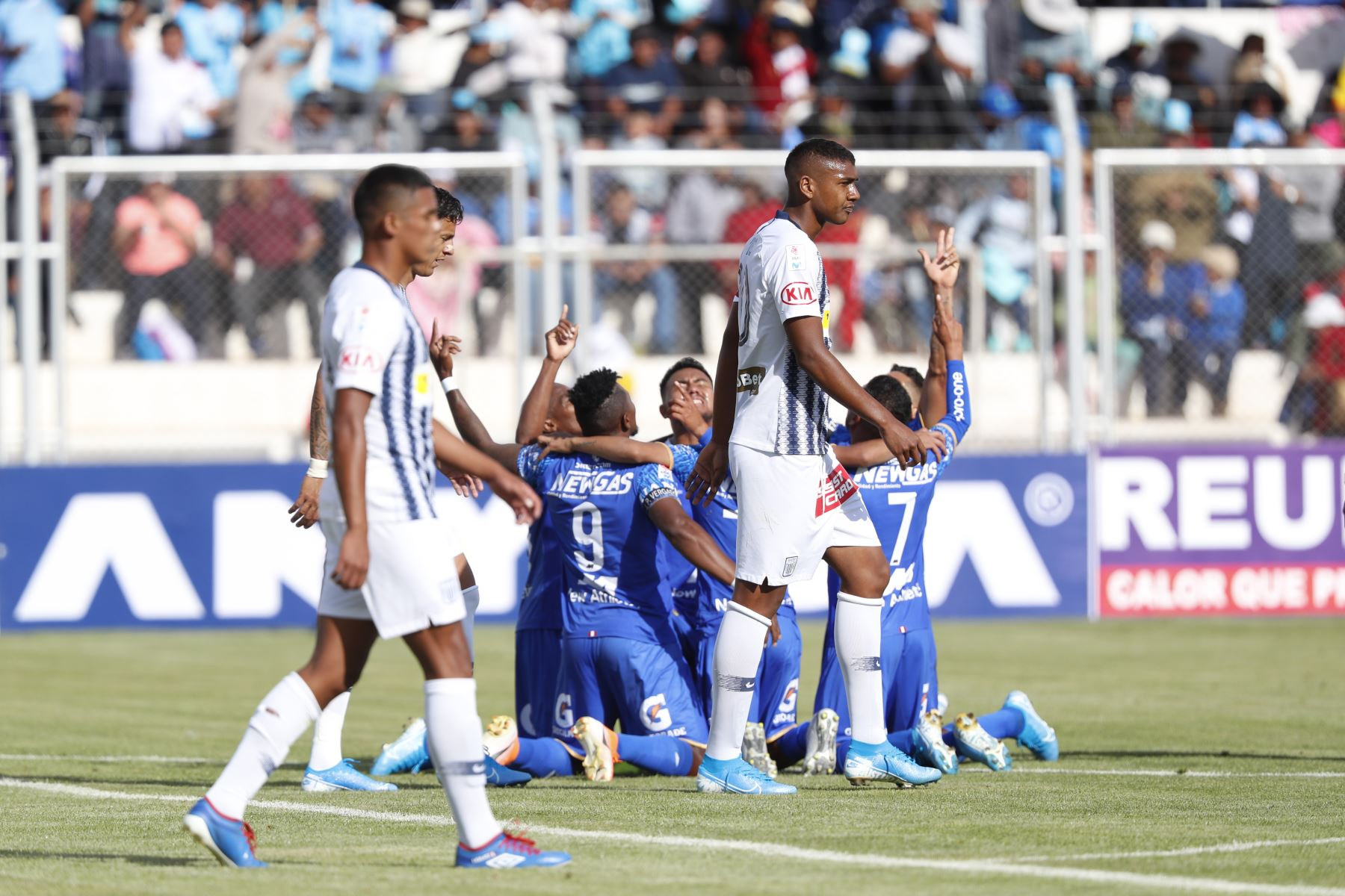Alianza Lima es derrotado por Binacional en el partido de ida en la final del fútbol peruano por la Liga 1, en la ciudad de Juliaca – Puno. Foto: ANDINA/Carlos Lezama