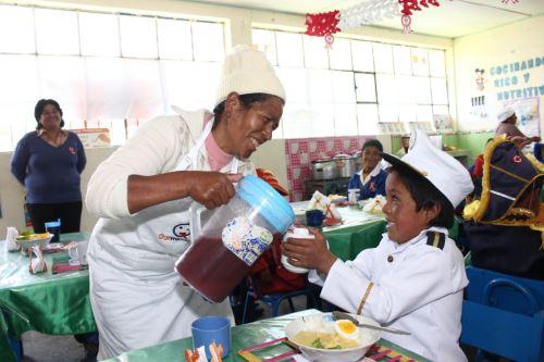 Qali Warma insta a conformar comités de alimentación escolar para asegurar servicio alimentario para los estudiantes. ANDINA/Difusión