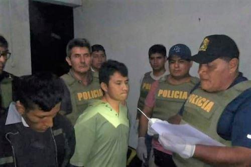 Autoridades capturan a los presuntos asesinos de suboficial de la Policía en Pichanaqui.  ANDINA/Difusión