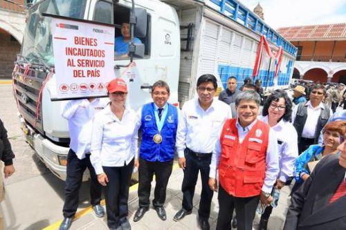 Ministerio de Justicia entrega vehículos a entidades y gobiernos locales en Ayacucho. ANDINA/Difusión