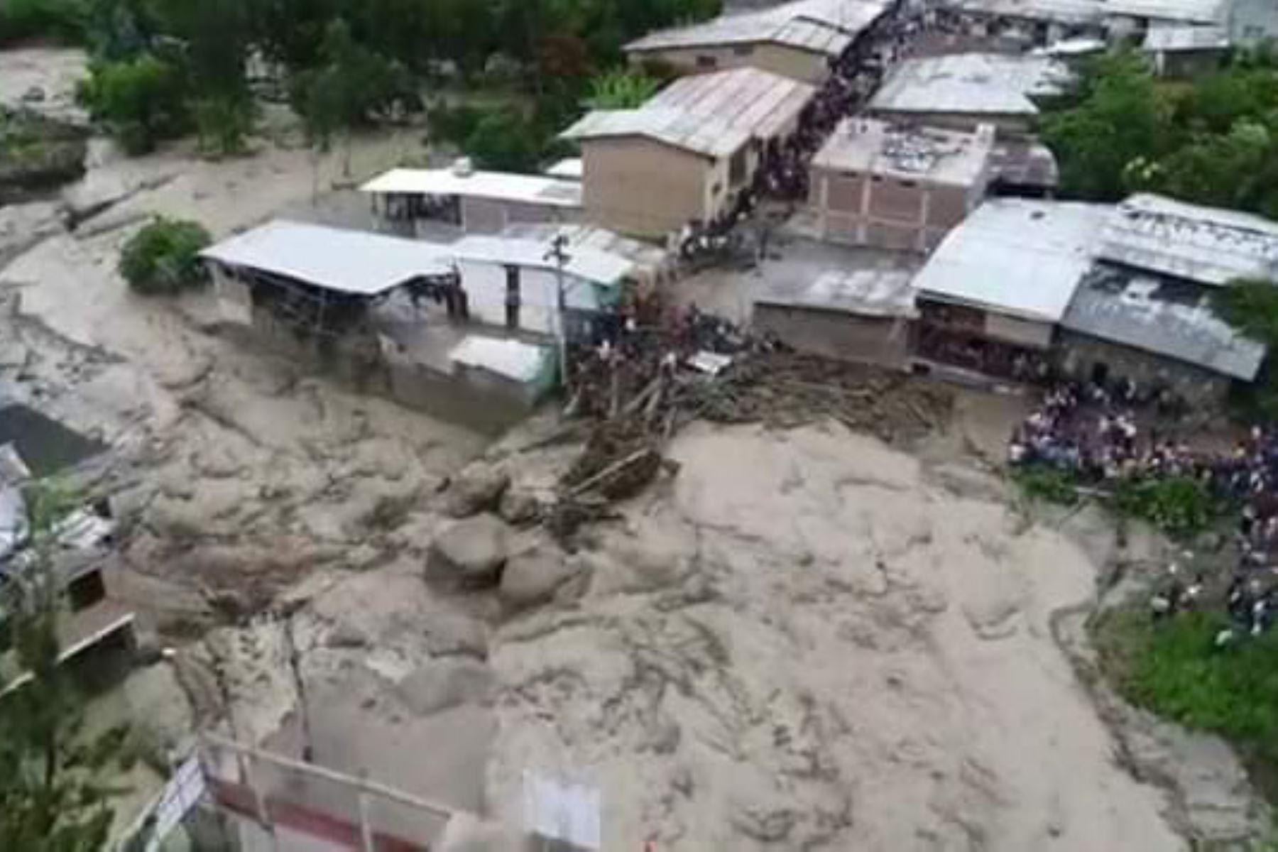 Huancabamba, en Piura, fue la zona más afectada por las lluvias intensas que se presentaron el fin de semana. INTERNET/Medios