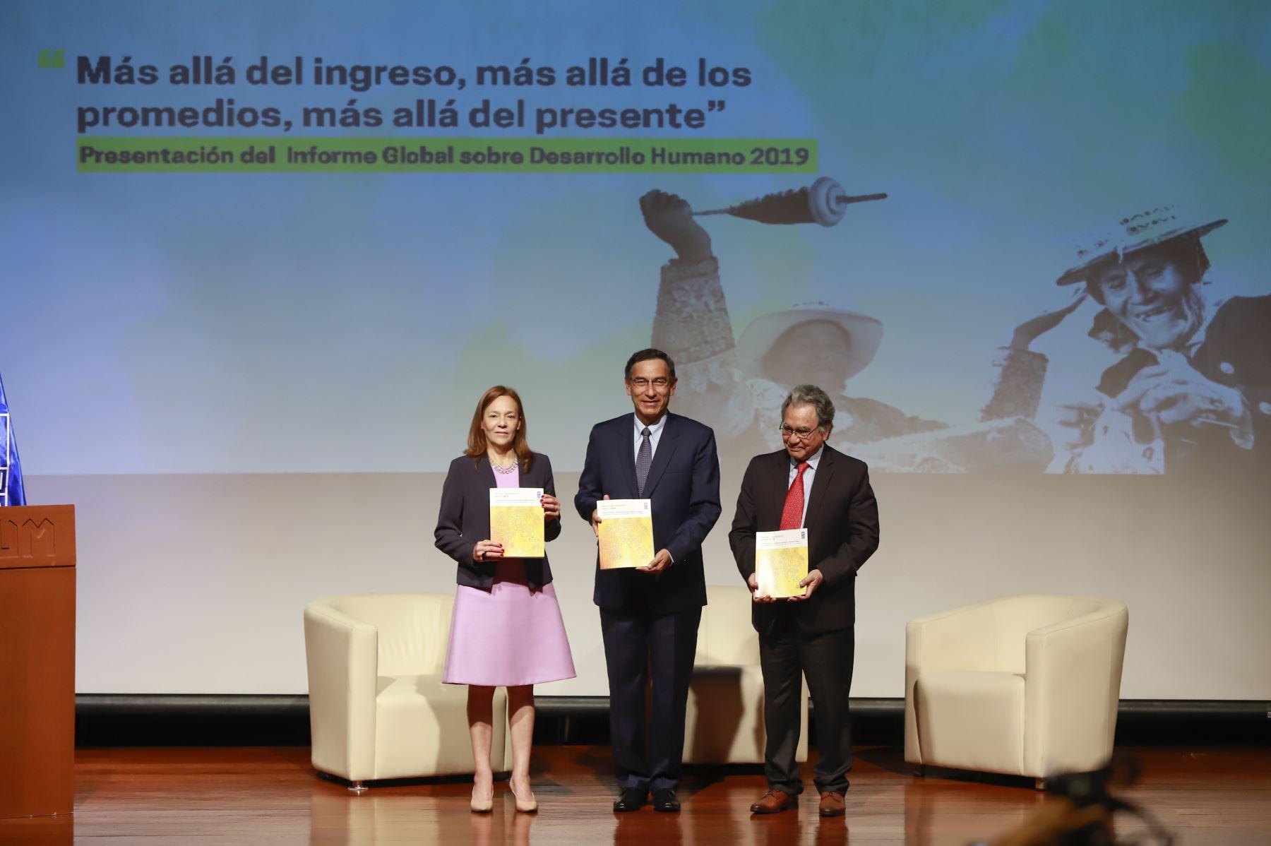 Presidente Martín Vizcarra participó en la presentación del Informe Global Sobre Desarrollo Humano 2019 de las Naciones Unidas. Foto: ANDINA/Prensa Presidencia