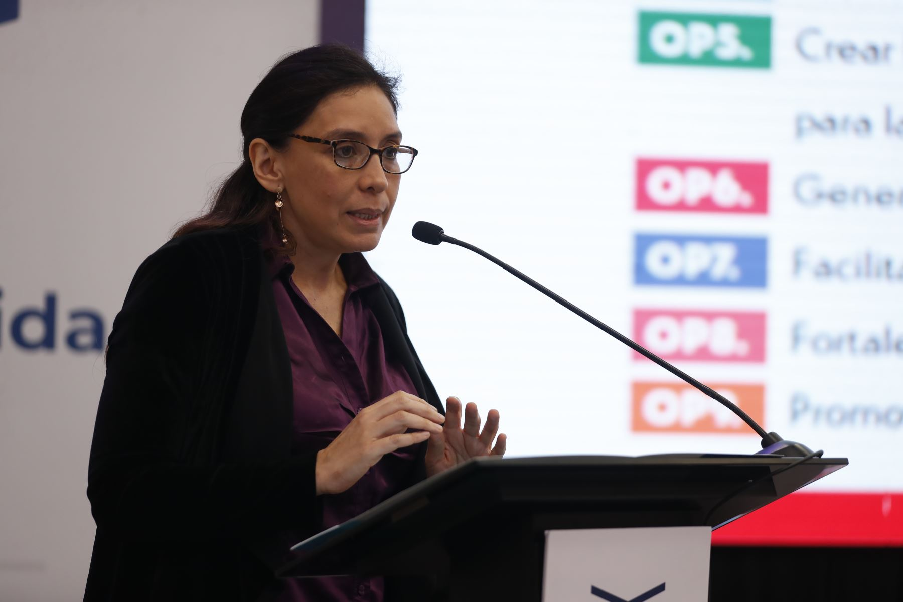 Miryam Yepes Salazar, directora de la Dirección de Inteligencia Económica y Optimización Tributaria del Ministerio de Economía y Finanzas. Foto: ANDINA/Renato Pajuelo