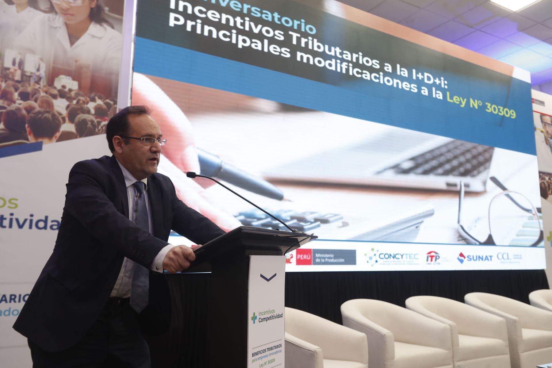 Viceministro de de Producción José Antonio Salardi. Foto: ANDINA/Renato Pajuelo