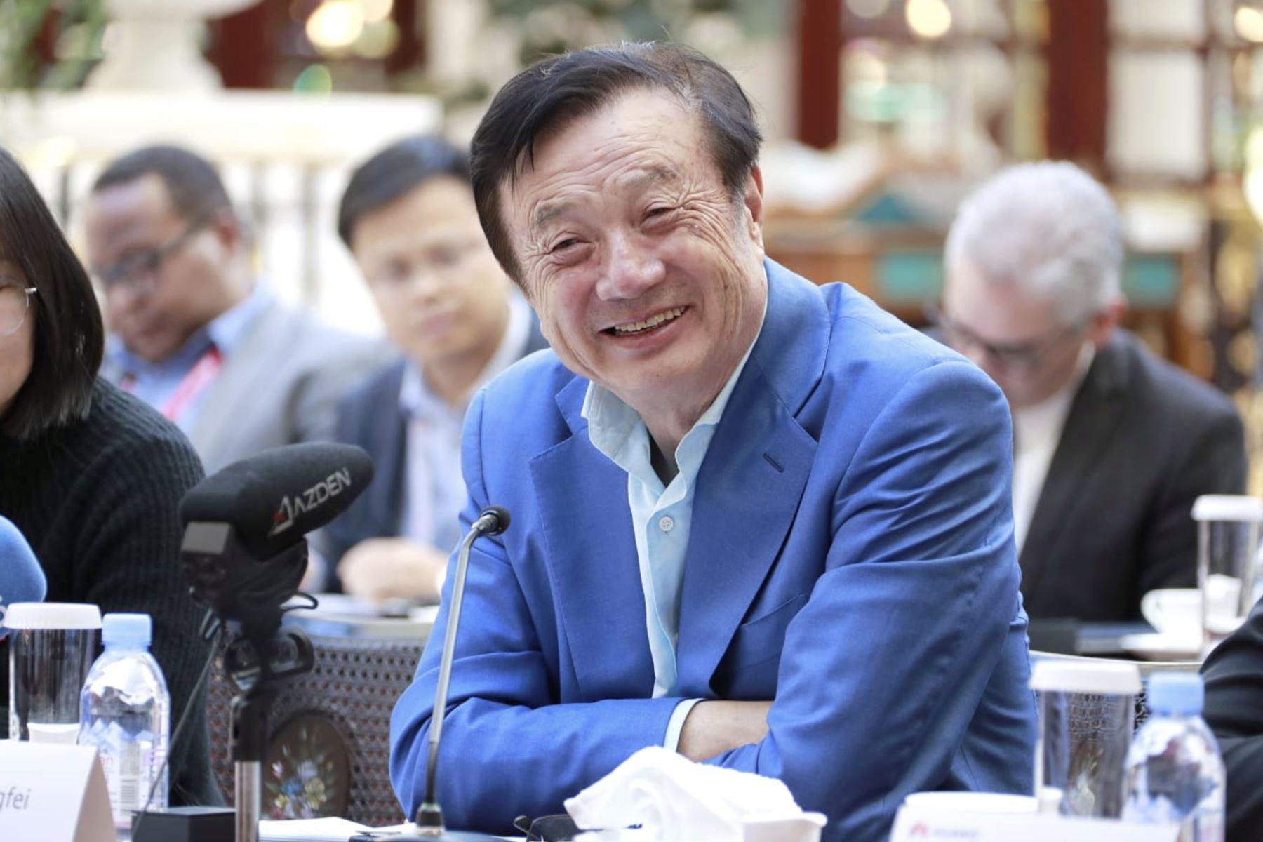 Conferencia de prensa  del fundador y CEO del gigante multinacional Huawei, Ren Zhengfei en Shenzhen, China. Foto: Difusión