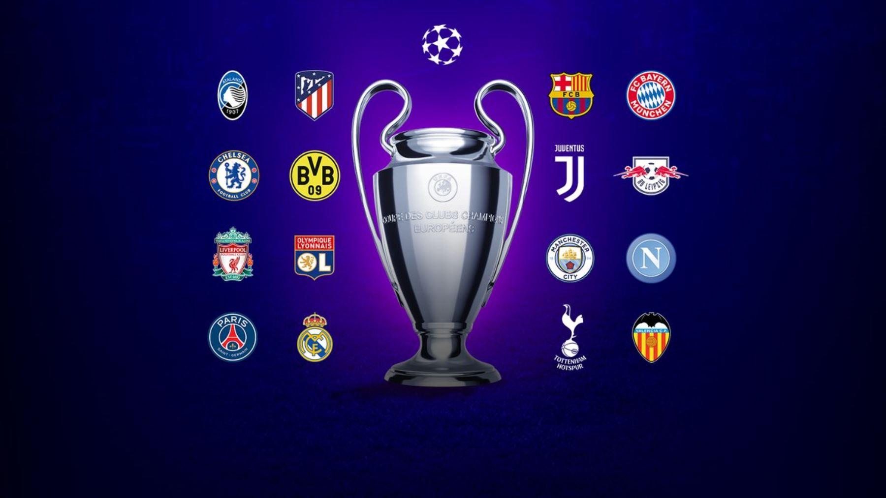 El sorteo de los octavos de final de la Liga de Campeones será el próximo lunes